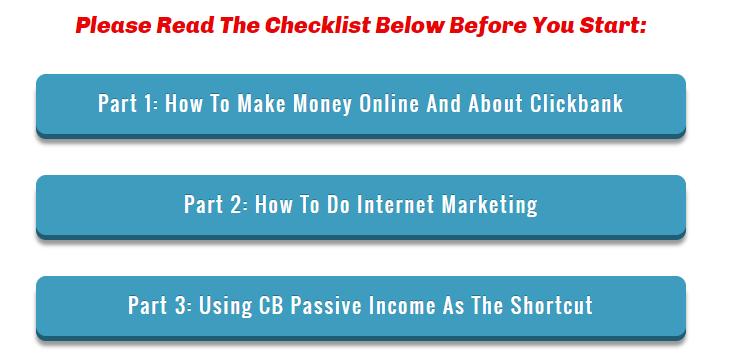 cb passive income 5.0 checklist
