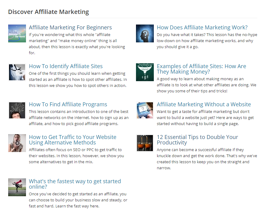 affilorama review discover affiliate marketing training