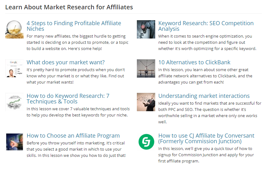 affilorama review market research training