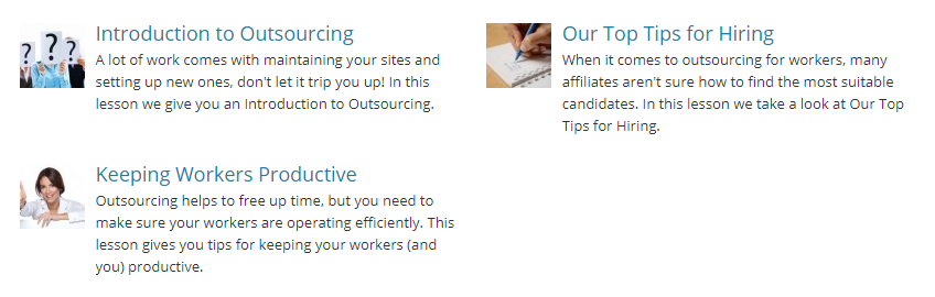 affilorama review outsourcing training